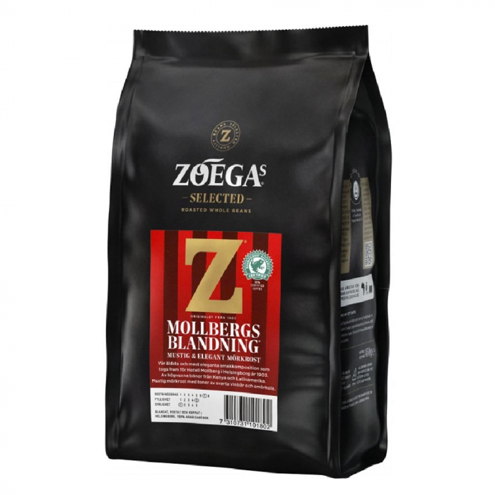 Zoegas Mollbergs Blanding cafea boabe 450g 0