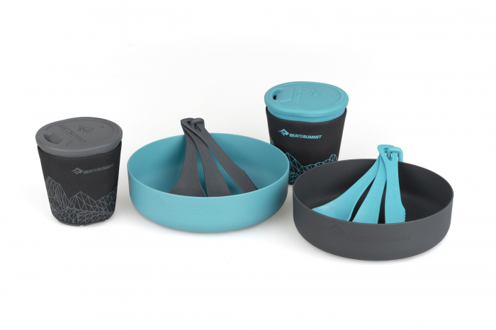 Set vase camping 2 persoane, Sea To Summit, Delta Light Camp Set 2.2, Pacific Blue / Grey [0]