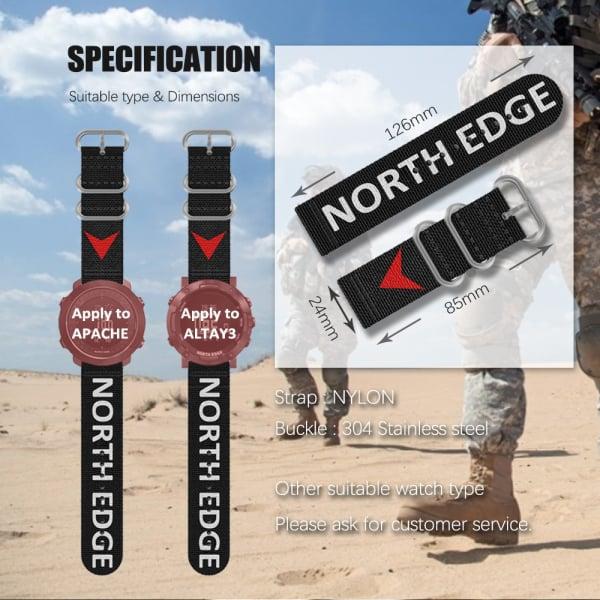 Bratara Nylon North Edge (Negru + Logo North Edge) 6