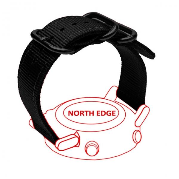 Bratara Nylon North Edge (Negru + Logo North Edge) 5