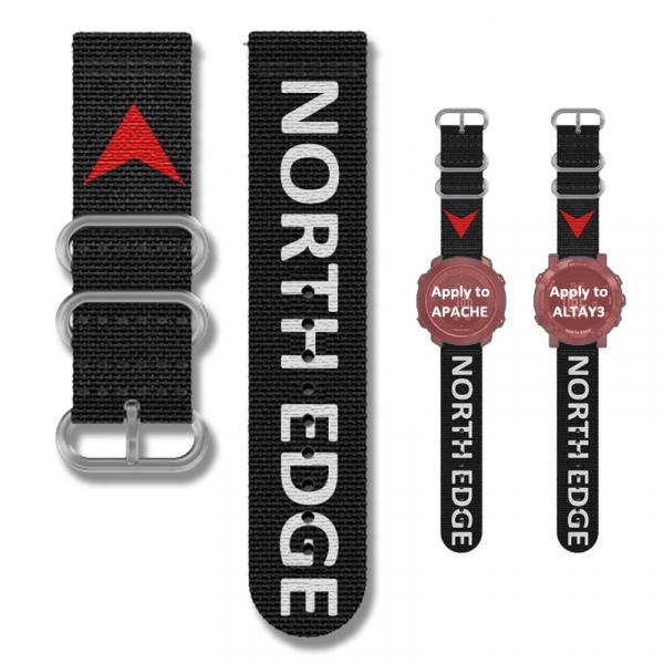 Bratara Nylon North Edge (Negru + Logo North Edge) 1