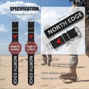Bratara Nylon North Edge (Negru + Logo North Edge) [6]