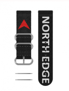 Bratara Nylon North Edge (Negru + Logo North Edge)0