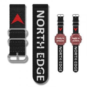 Bratara Nylon North Edge (Negru + Logo North Edge)1