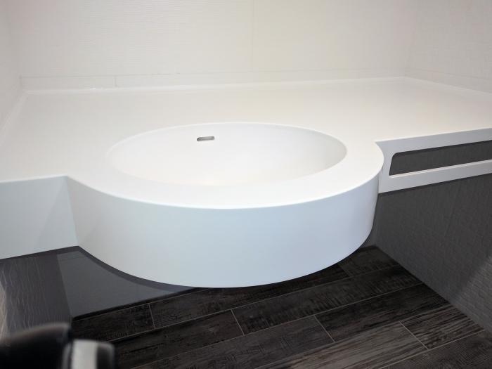 Chiuvetă pentru baie din Corian 4