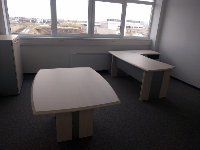 Birou Norvinia Nr-10 cu sertare și masă birou Norvinia 4