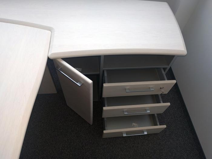Birou Norvinia Nr-10 cu sertare și masă birou Norvinia 2