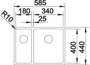 Blanco Quarta Ten 340/180-U 2