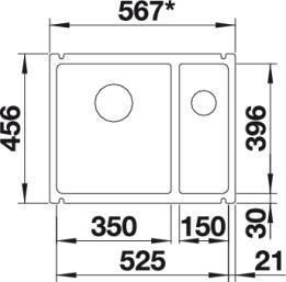 Blanco Subline 350/150-U 2