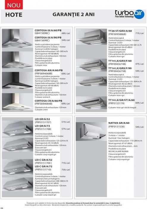 Catalog Blanco 2019, electrocasnice incorporabile 25