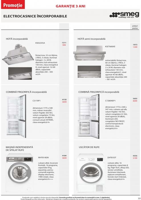 Catalog Blanco 2019, electrocasnice incorporabile 32