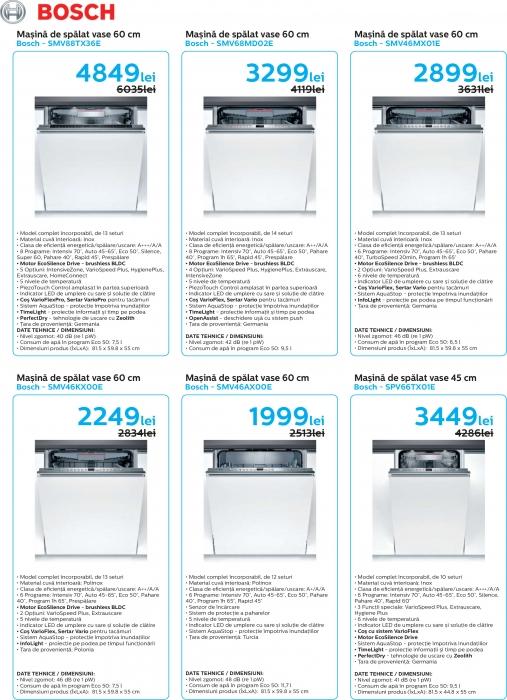Catalog Bosch 2019, electrocasnice incorporabile 7
