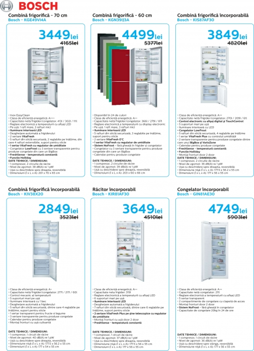 Catalog Bosch 2019, electrocasnice incorporabile 10