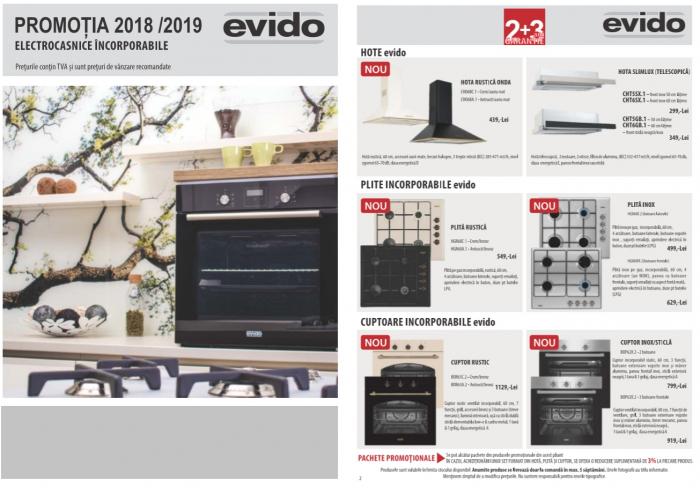 Catalog Evido 2019, electrocasnice incorporabile 1