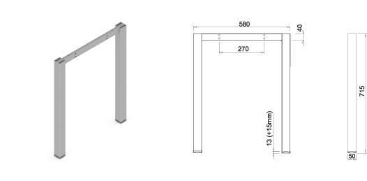 Stand metalic mobilă birou System Frame Cubo [2]