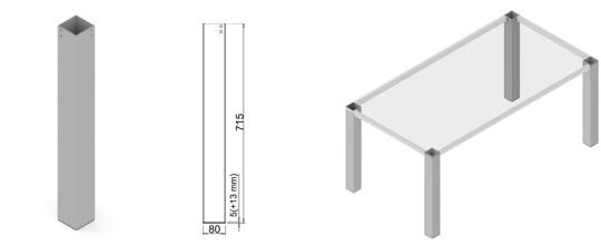 Stand metalic mobilă birou System Frame Kota [1]