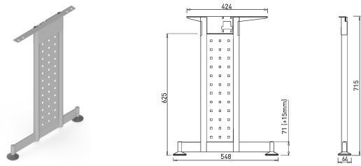 Stand metalic mobilă birou System Desk Bar Mark 2