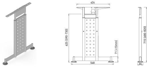 Stand metalic mobilă birou System Desk Bar Mark 4