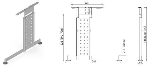 Stand metalic mobilă birou System Desk Bar Mark 3