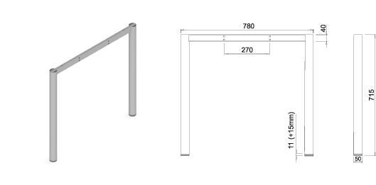 Stand metalic mobilă birou System Frame Oxo 50 1