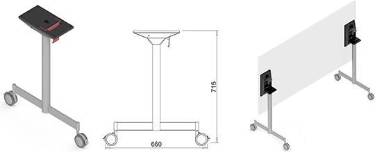 Picioare metalice mobilă birou independente Park-Z 2