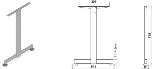 Stand metalic mobilă birou System Desk Bar Tend 2