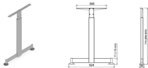 Stand metalic mobilă birou System Desk Bar Tend 4