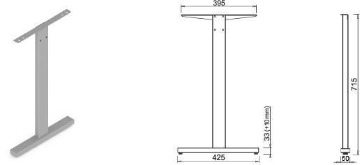 Stand metalic mobilă birou System Desk Bar Till 2