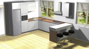 Proiect bucătărie la comandă Norvinia nr.630