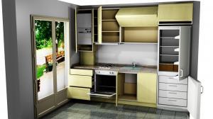 Proiect bucătărie mică la comandă Norvinia nr.671