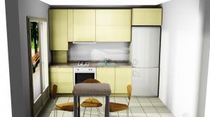 Proiect bucătărie mică la comandă Norvinia nr.674