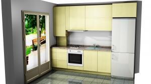 Proiect bucătărie mică la comandă Norvinia nr.670