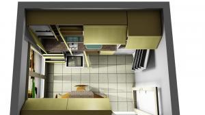 Proiect bucătărie mică la comandă Norvinia nr.676