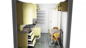 Proiect bucătărie mică la comandă Norvinia nr.673