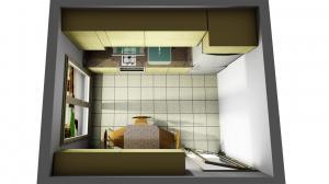 Proiect bucătărie mică la comandă Norvinia nr.675
