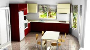 Proiect bucătărie la comandă Norvinia nr.734