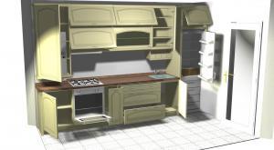 Proiect bucătărie mică la comandă Norvinia nr.111