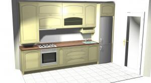 Proiect bucătărie mică la comandă Norvinia nr.110
