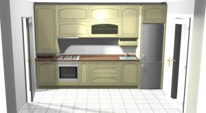 Proiect bucătărie mică la comandă Norvinia nr.116