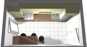 Proiect bucătărie mică la comandă Norvinia nr.115