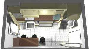 Proiect bucătărie mică la comandă Norvinia nr.114