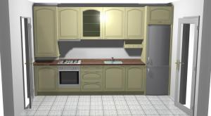 Proiect bucătărie mică la comandă Norvinia nr.120