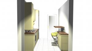 Proiect bucătărie mică la comandă Norvinia nr.126