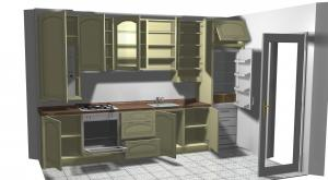 Proiect bucătărie mică la comandă Norvinia nr.124