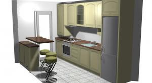 Proiect bucătărie mică la comandă Norvinia nr.122