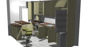 Proiect bucătărie mică la comandă Norvinia nr.123