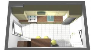 Proiect bucătărie mică la comandă Norvinia nr.121