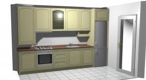 Proiect bucătărie mică la comandă Norvinia nr.125