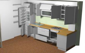 Proiect bucătărie la comandă Norvinia nr.145
