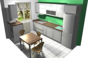 Proiect bucătărie mică la comandă Norvinia nr.155